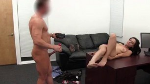 Backroom Casting Couch Angelica deep throat fuck