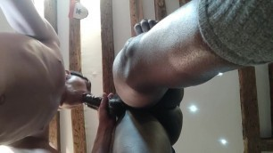 Big Malian load in that white whore pussy